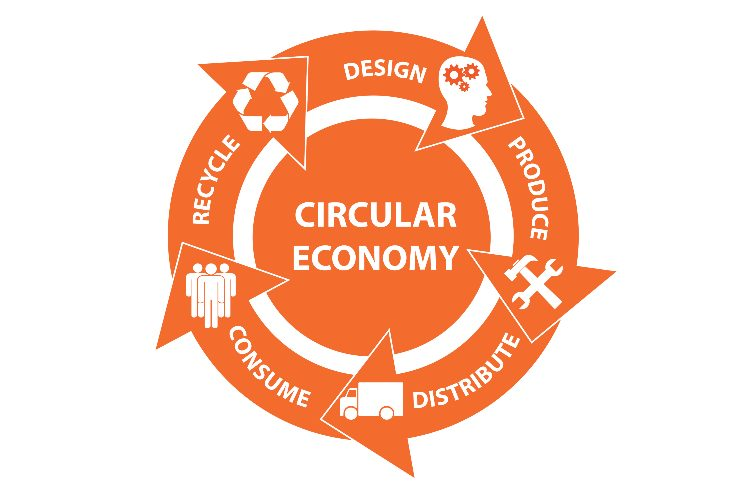 Gráfico de economía circular