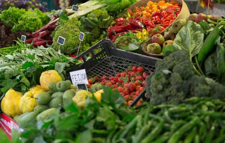 Feria de verduras