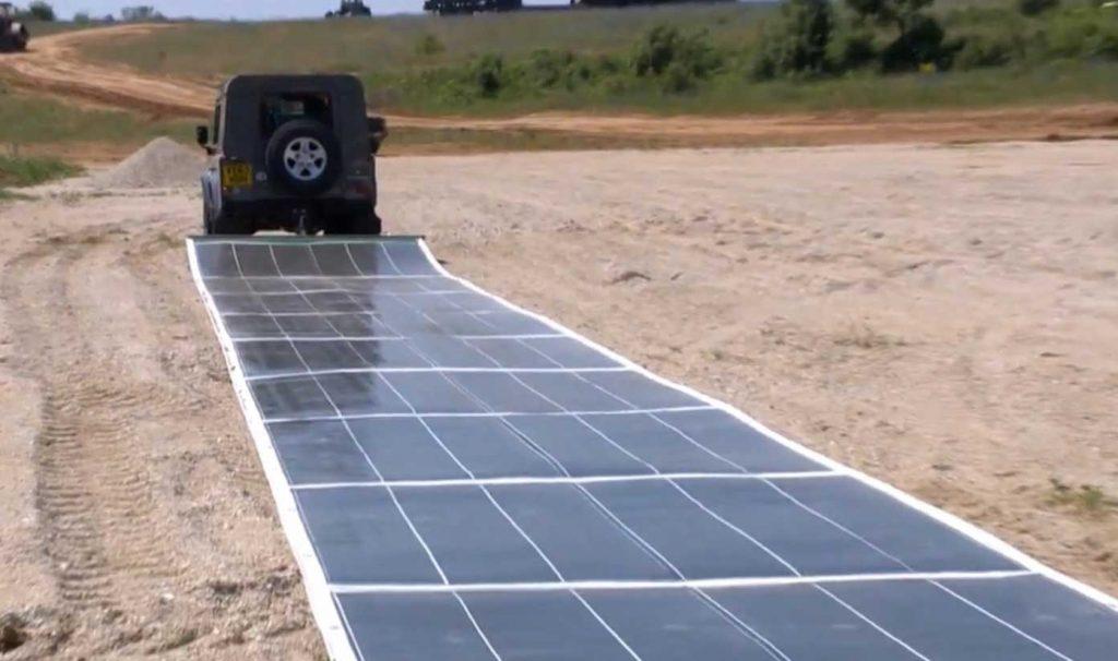 Paneles solares flexibles y trasladables.