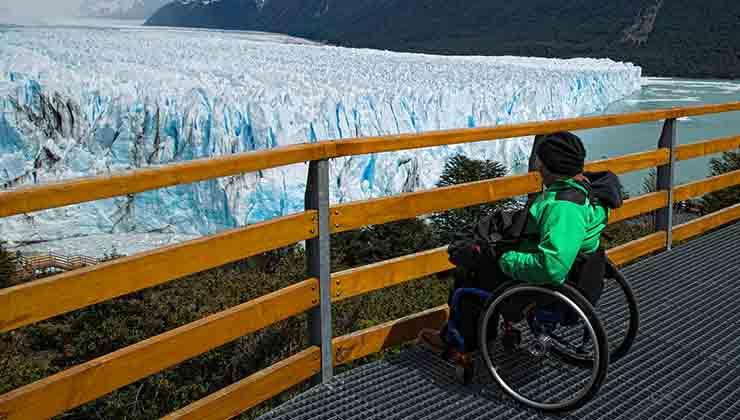 El Glaciar Perito Moreno se puede visitar en silla de ruedas (Travelxperiencie.com).