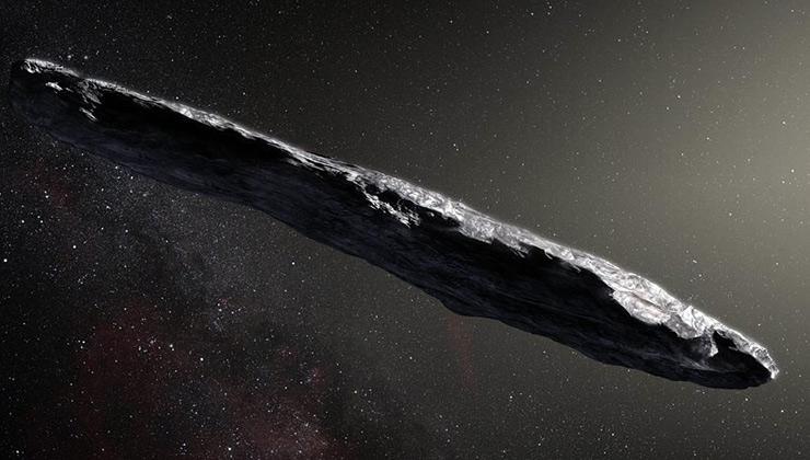 Oumuamua fue avistado desde Hawai en 2017 (Foto del Observatorio Europeo sur).