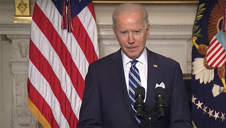 Joe Biden durante el anuncio de sus políticas contra la crisis climática (Captura de pantalla - YouTube/TheWitheHouse).