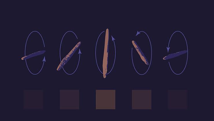 La ilustración muestra los raros patrones de giro de Oumuamua (Foto de nasa.gov).