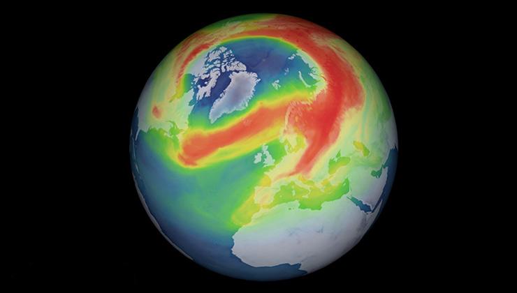 El agujero en la capa de ozono en el Ártico impactó por su tamaño (Agencia Espacial Europea).