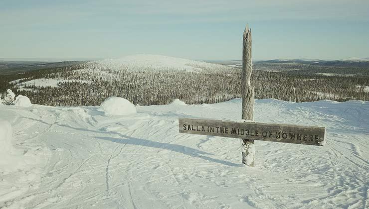 """Una vista del paisaje de Salla, """"en el medio de la nada"""" (Foto de savesalla.com)."""