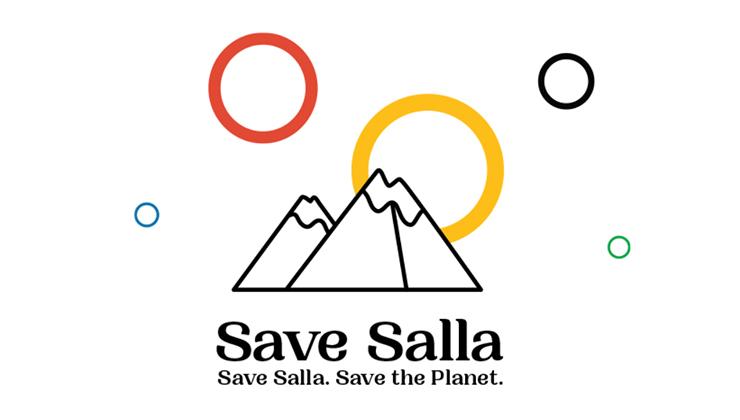 El logo de Salla 2032 como sede de los Juegos (Foto de savesalla.com).