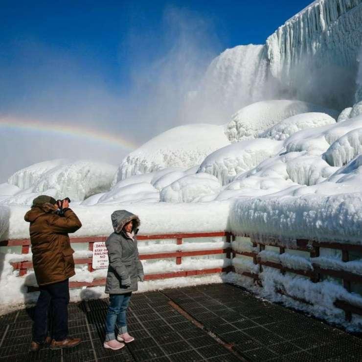 Cataratas del Niágara congeladas 2021