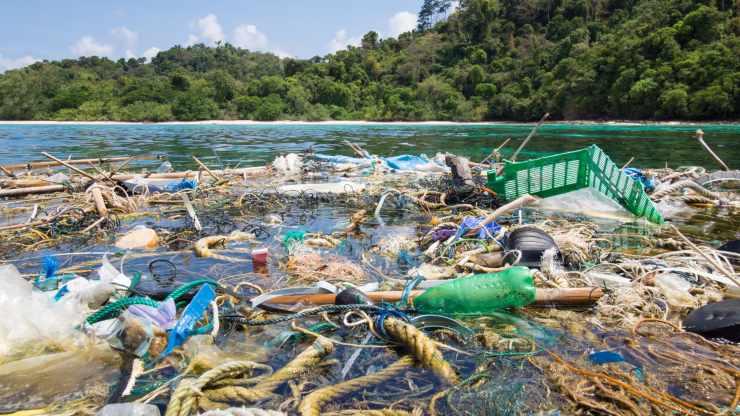 Islas de plástico en el mar