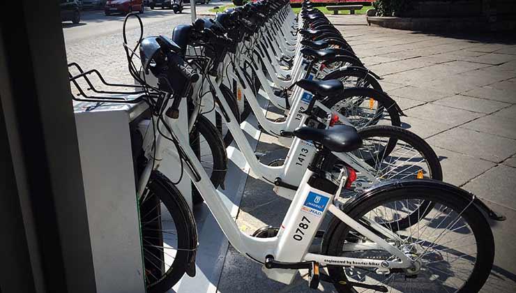 Bicimad, el sistema de bicis eléctricas de uso público de Madrid (Foto de Wikipedia).