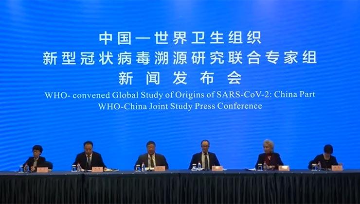 En una conferencia de prensa desde Wuhan, la OMS confirmó que el coronavirus es de origen animal (captura de pantalla).