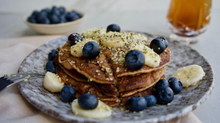 Receta de pancakes de avena veganos