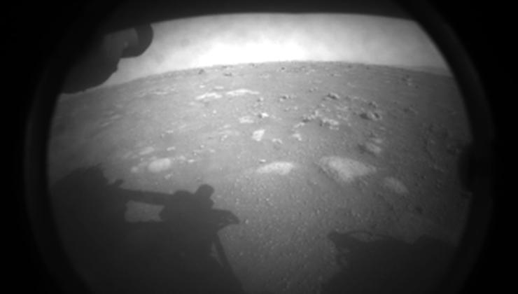 Esta fue la primera foto enviada a la Tierra por el Perseverance (Foto: Nasa).