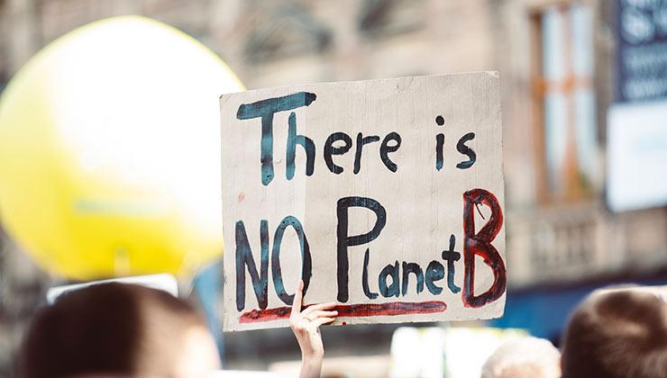 """""""No hay planeta B"""", uno de los claims de la lucha contra el cambio climático (Foto de Markus Spiske - Pexels)."""