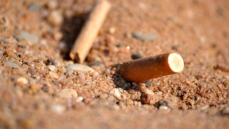 contaminacion de colillas y bastoncillos