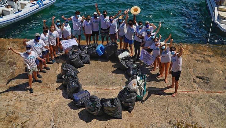 El trabajo de Cero Plastics Menorca apunta a movilizar a jóvenes (Foto de Cero Plastics Menorca).