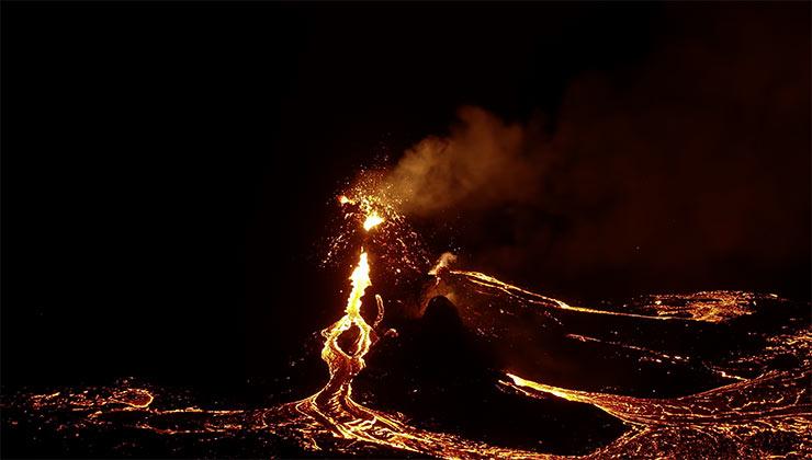 Antes de la erupción del volcan Fagradalsfjall se registraron más de 40 mil sismos (Captura de pantalla).