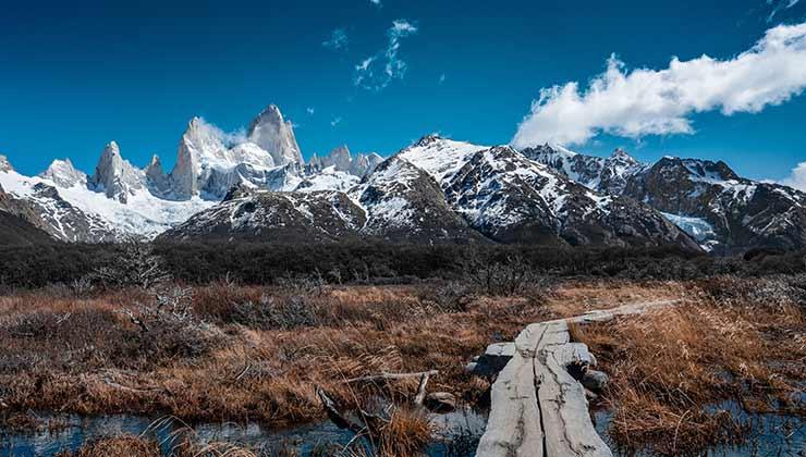 El camino a la Laguna de los Tres es uno de los trekkings más famosos de la Patagonia (Foto de Sesinando - Pexels).