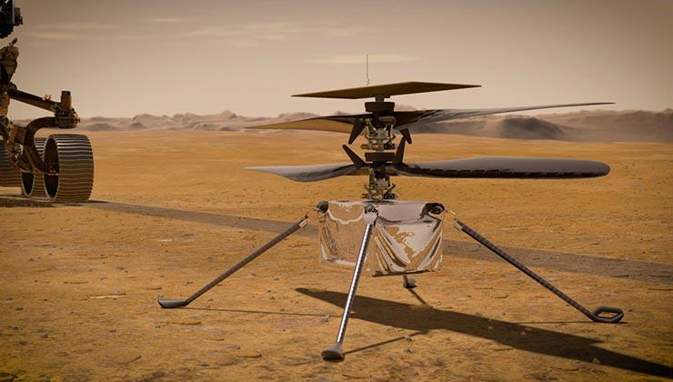 El helicóptero Ingenuity fue desarrollado por el Laboratorio de Propulsión a Chorro de la Nasa (Foto Nasa.gov).