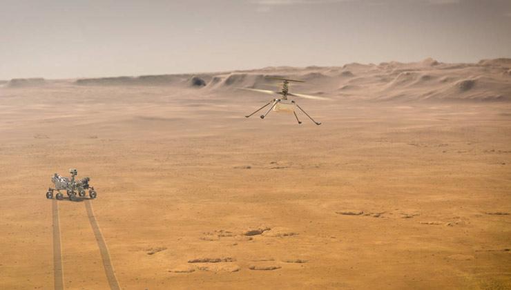 El helicóptero se llama Ingenuity por el ingenio que fue necesario para su desarrollo (Foto Nasa.gov).