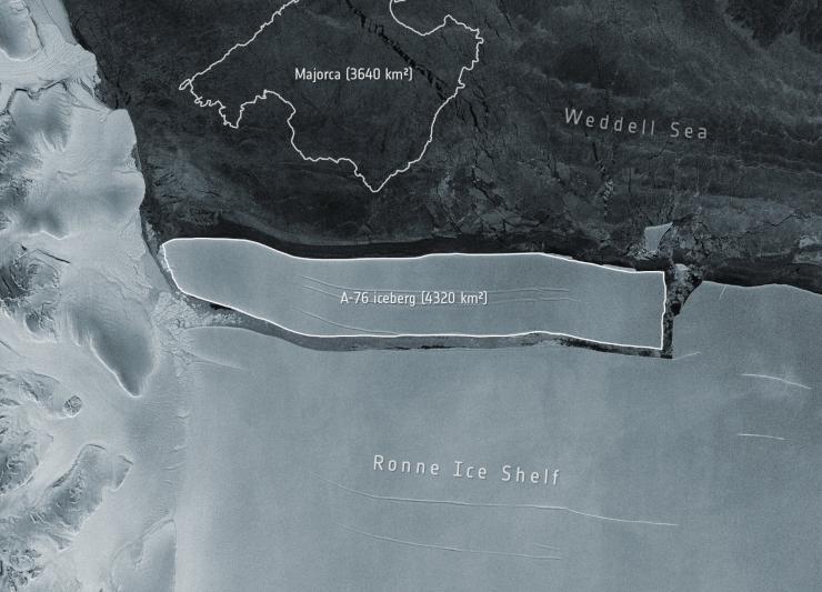 El iceberg más grande del mundo se separa de la Antártida
