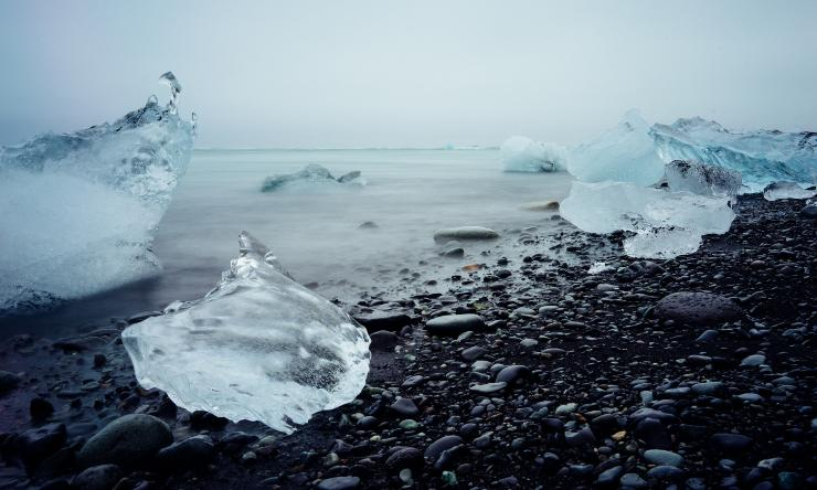 agua hielo