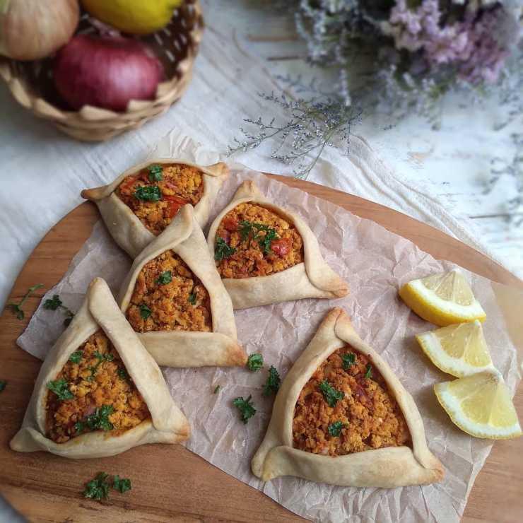 empanadas árabes veganas