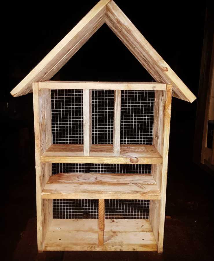 Estructura de un refugio para insectos