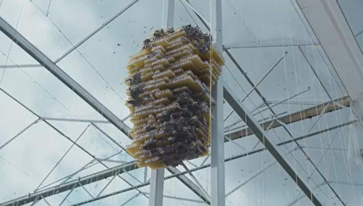panal de abejas futurista