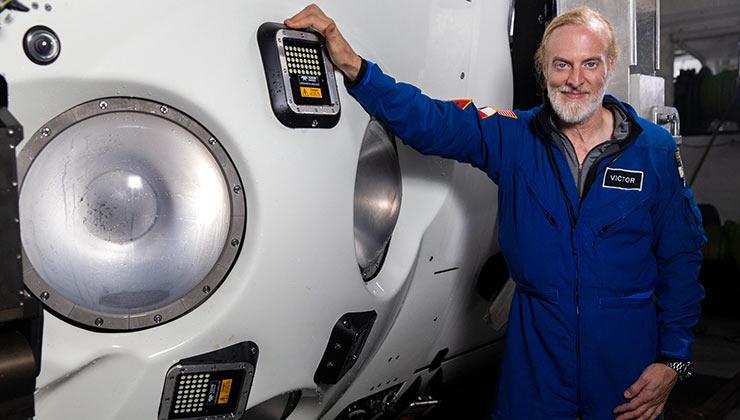 Victor Vescovo fue quien financió el proyecto y la primera persona en llegar a los cinco puntos más profundos del lecho marino (Foto de Five Deeps).