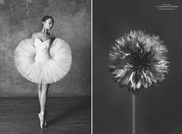 """""""Bailarinas y flores"""" de la fotógrafa Yulia Artémieva"""