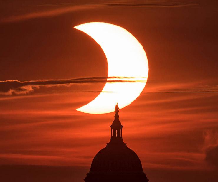 El eclipse de sol del pasado 10 de junio sólo pudo observarse en el hemisferio norte (Foto: nasa.gov).