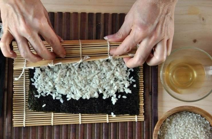 esterilla sushi