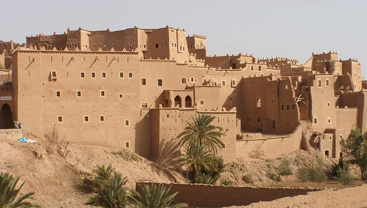 La Medina de Ourzazate es una de las construcciones de adobe más reconocidas de la ciudad (Foto: Edo 555 - Wikipedia).